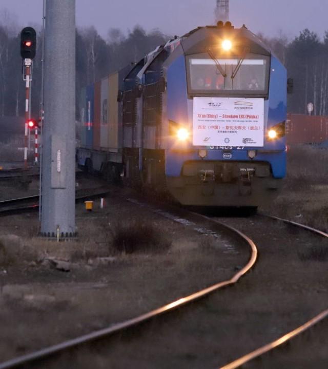 Tak wyglądało powitanie pierwszego pociągu z Chin w Sławkowie