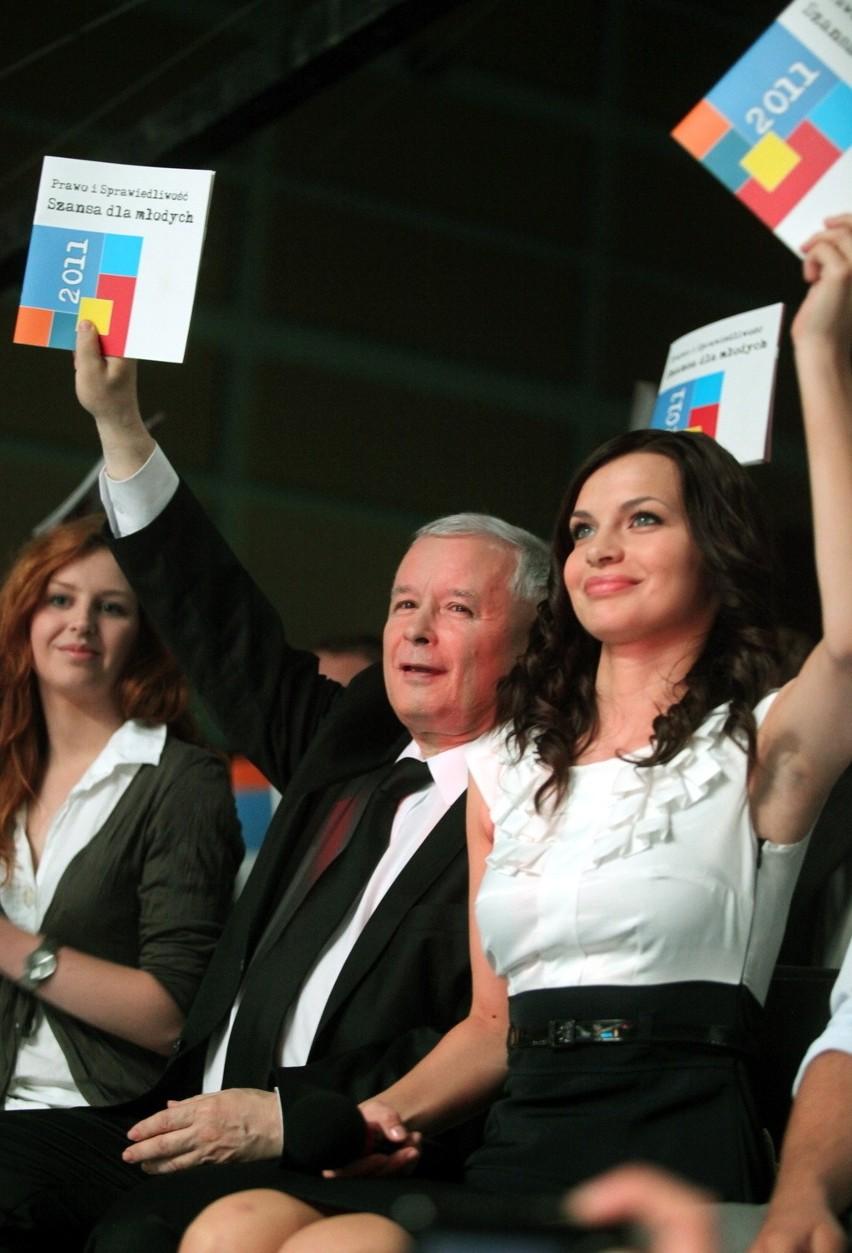 Sylwia Ługowska i Jarosław Kaczyński