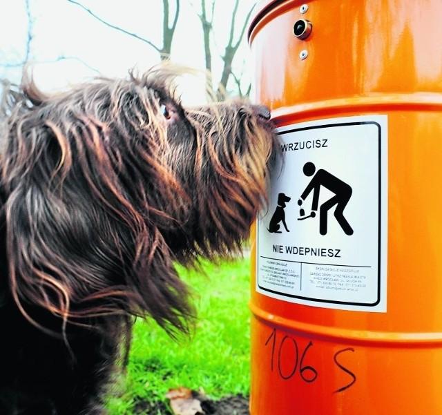 Kosze na psie odchody stanęły wszędzie, tylko nie w parkach