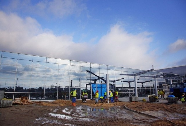 Budowa nowego terminalu na Ławicy.