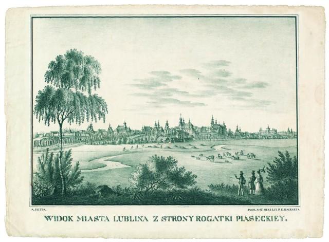 Rycina P. Hackerta z około 1840 roku.
