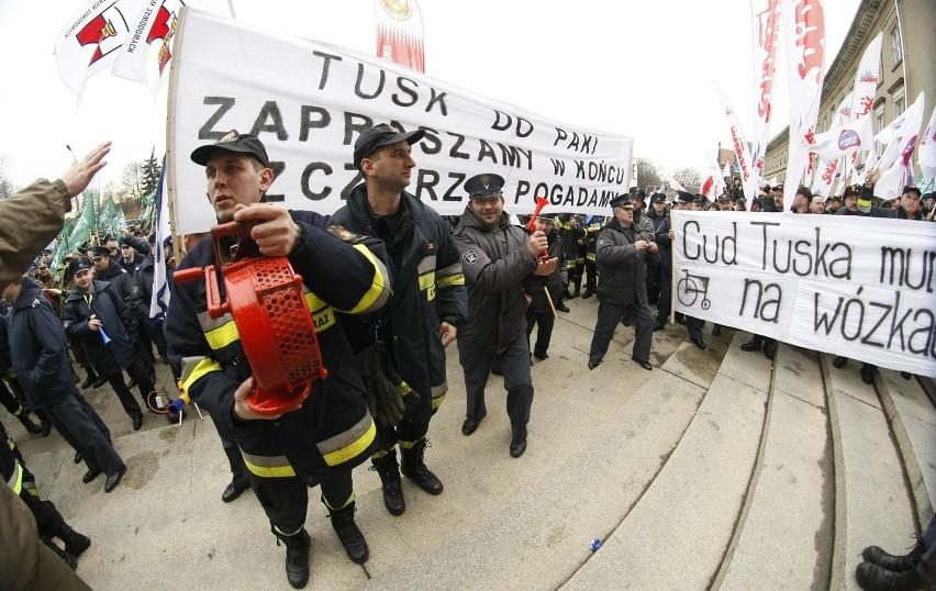 Wrocław: Służby mundurowe protestowały (FILM I ZDJĘCIA)