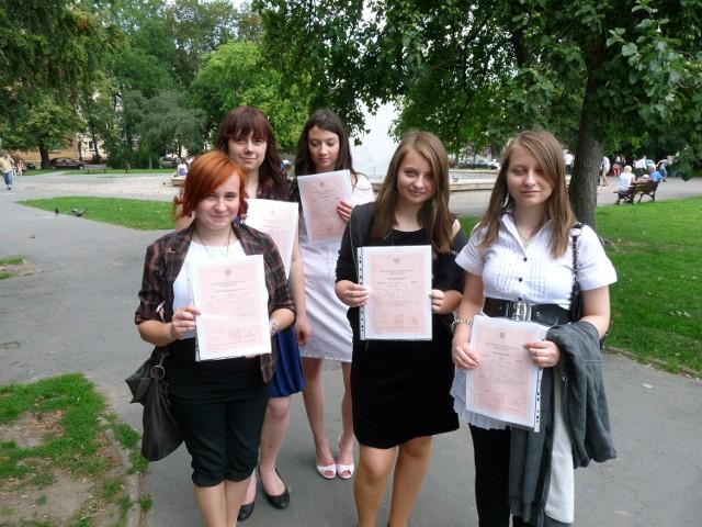 Edyta, Gabriela, Justyna, Magda i Paulina z Gimnazjum nr 12 w Lublinie