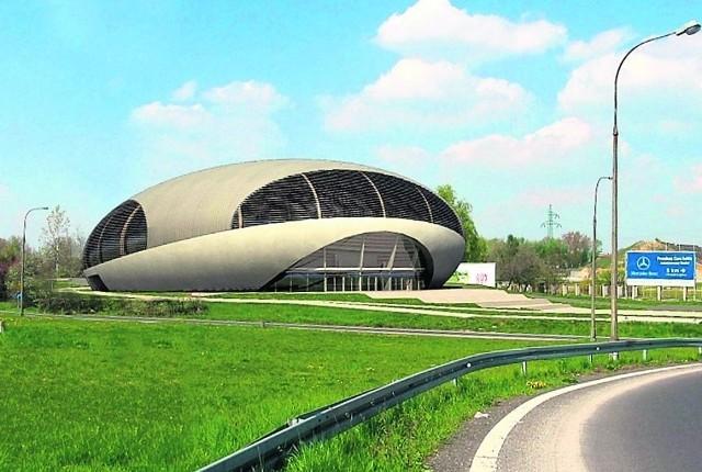 Tak ma wyglądać hala sportowa, którą zamierzają wybudować władze powiatu lubińskiego