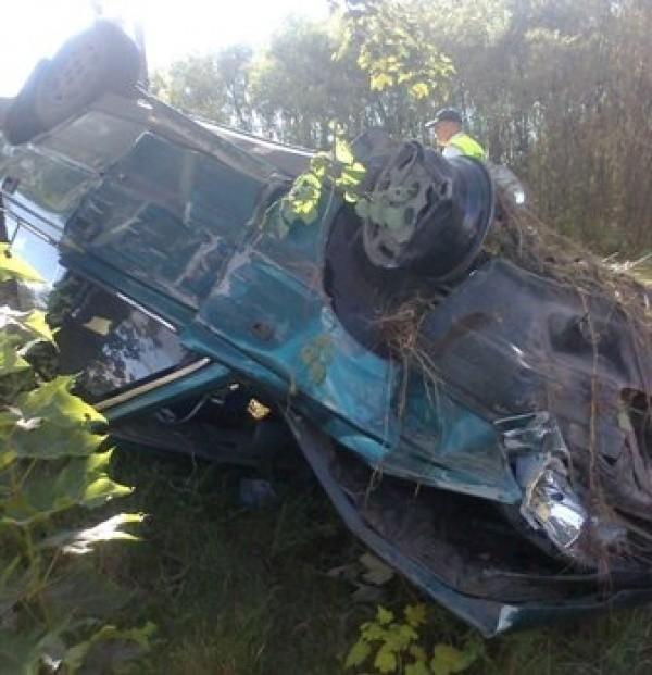 Polonez, który brał udział w wypadku w miejscowości Kozubata