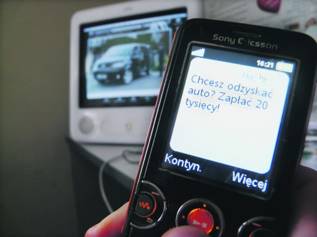 Do właściciela skradzionego auta dotarł SMS z żądaniem okupu. Złodziej tylko raz próbował nawiązać z nim kontakt