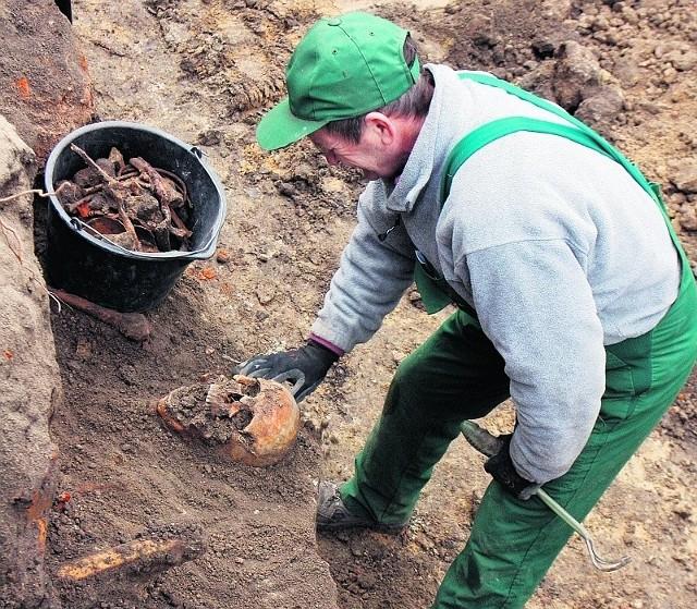 Prace ekshumacyjne w mogile trwały od października 2008 roku do kwietnia 2009 roku.