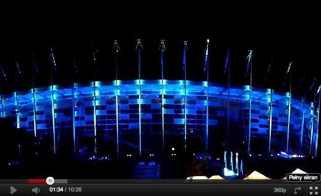 Iluminacja stadionu w Warszawie