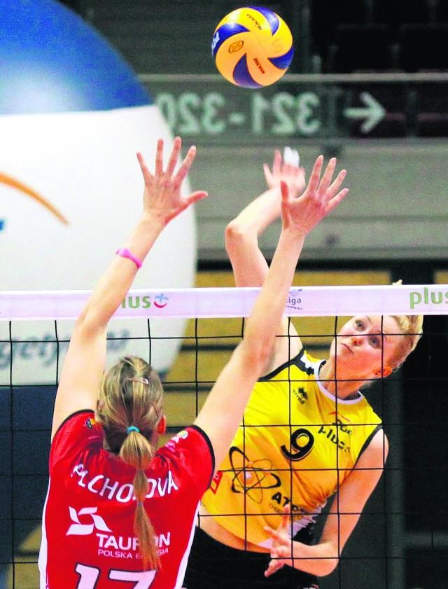 Olga Fatiejewa (nr 9) zdobyła tylko 5 punktów atakiem