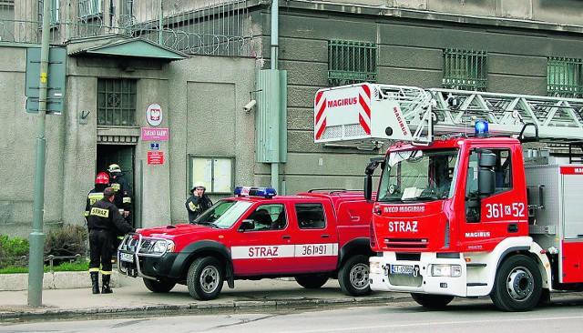 Na terenie ZK prz Konarskiego interweniowała część strażaków, reszta stała w gotowości