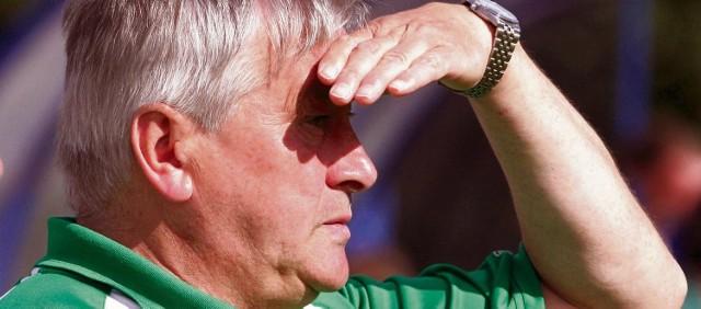 Trener Jerzy Wyrobek z niepokojem patrzy w przyszłość. Nie wiadomo czy jego zespół dogra do końca rozgrywek.
