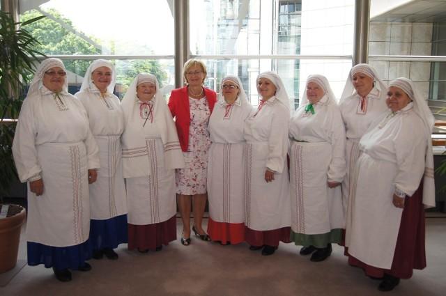 Zespół Jarzębina w Parlamencie Europejskim w Brukseli