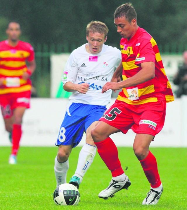 Piłkarze Podbeskidzia Bielsko-Biała na razie grają w kratkę - świetnie z Jagiellonią i koszmarnie z Bełchatowem