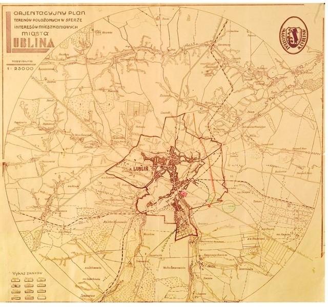 Plan Lublina z roku 1926