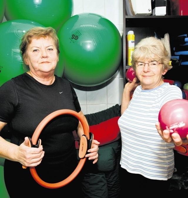 Krystyna Kaczmarczyk i Jadwiga Stańczuk ćwiczą zawsze w poniedziałki i czwartki