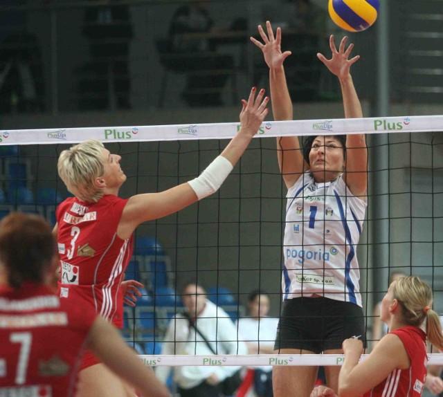 Katarzyna Wysocka (nr 1) skutecznie blokowała rywalki