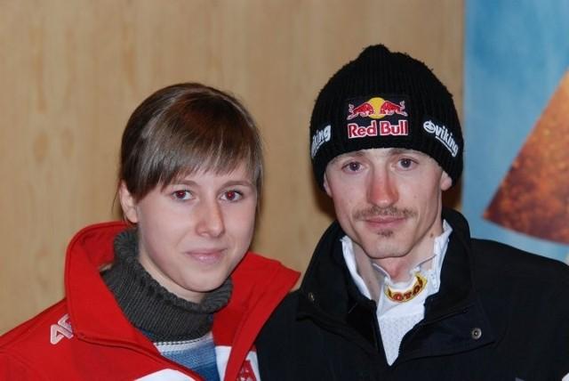 Małgorzata Piotrowicz z Adamem Małyszem