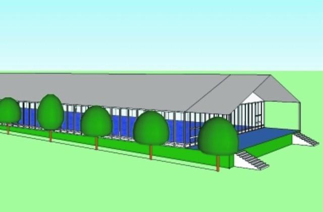 Tak wyglądałby wielki namiot centrum kongresowego przed Nowym Domem Zdrojowym