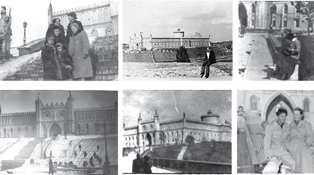 Kolekcja zdjęć rodzinnych Elżbiety Kołodziej-Wnuk z lat 50. Na pierwszej fotce z lewej wyraźnie widać figurę rycerza