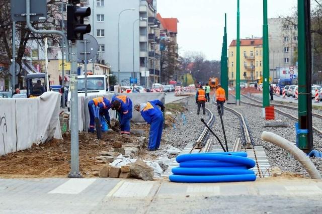 Praca na ulicy Grunwaldzkiej idzie pełną parą