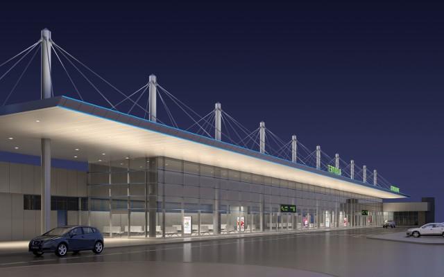 Wizualizacja terminala A w Pyrzowicach po przebudowie