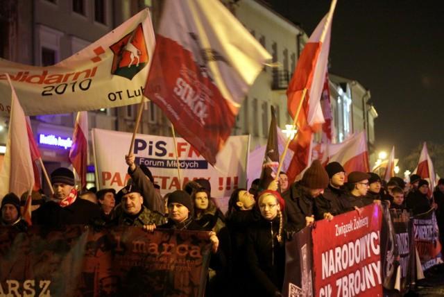 Marsz ku pamięci Żołnierzy Wyklętych w Lublinie