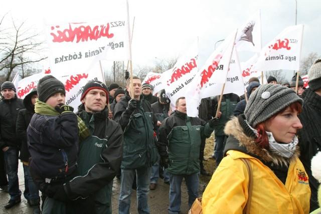 Protest pod łódzkim zakładem Coca-Coli