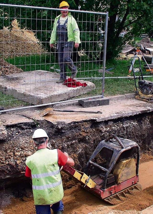 Budowa kanalizacji ruszyła już np. przy ul. Leśnej