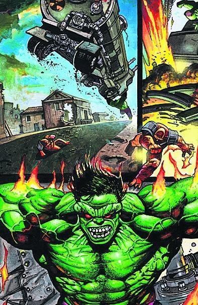 Zielony Hulk w ujęciu rysownika Simona Bisleya