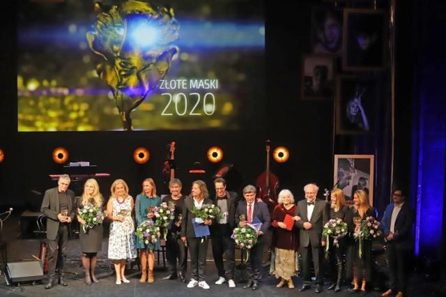 Uroczystość wręczenia Złotych Masek na scenie Teatru Śląskiego w Katowicach 13 września 2021