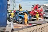 Cztery osoby ranne w wypadku na Wschodniej Obwodnicy Wrocławia (ZOBACZ ZDJĘCIA)