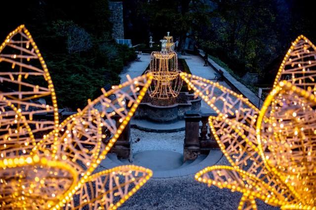 Bajeczne ogrody światła w Zamku Książ zainteresowały świętego Mikołaja