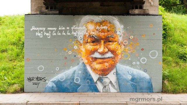 Sądecki artysta odżegnuje się od polityki. Interesuje go dialog z obiorcami murali