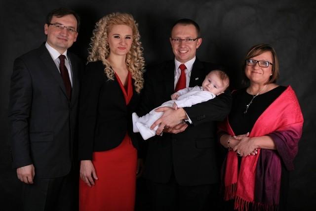 Zbigniew Ziobro i Beata Kempa rodzicami chrzestnymi syna Piotra Szeligi