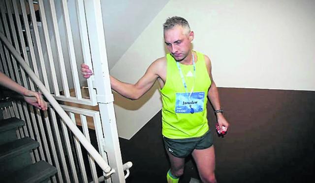 Jarosław Piechota jest już bardzo zmęczony, ale wykazał charakter i cel osiągnął