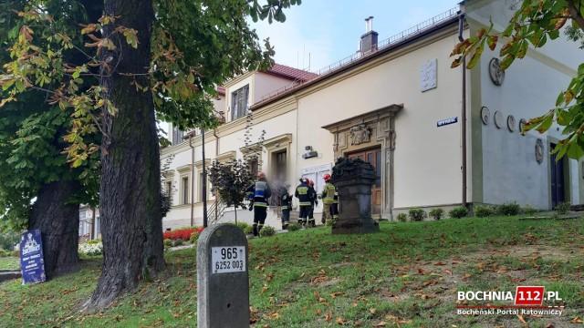 Ewakuacja urzędu miejskiego w Nowym Wiśniczu, 17 września 2020