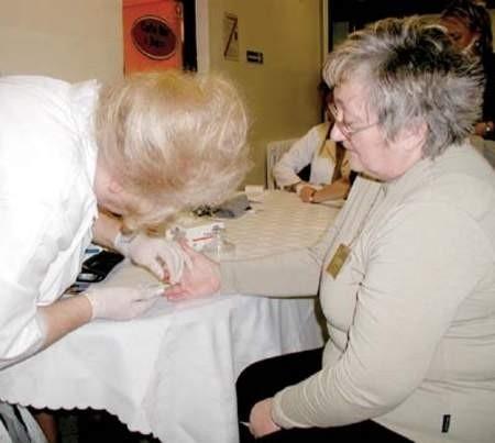 Barbara Jura zdecydowała się na pomiar cukru we krwi. Wynik ją ucieszył.