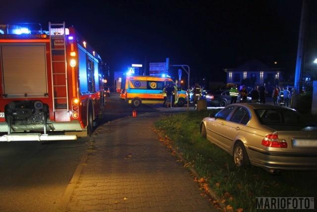 Wypadek przy ul. Prószkowskiej w Opolu.