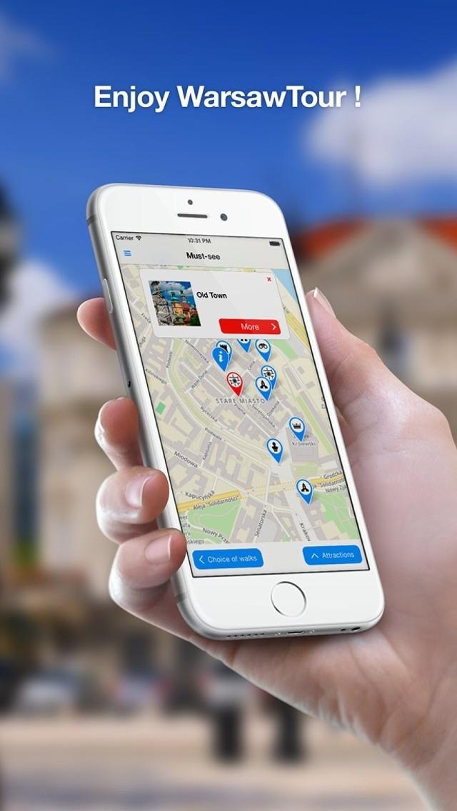 Aplikacja WarsawTour na iOS. Zwiedzaj Warszawę z iPhonem w dłoni!