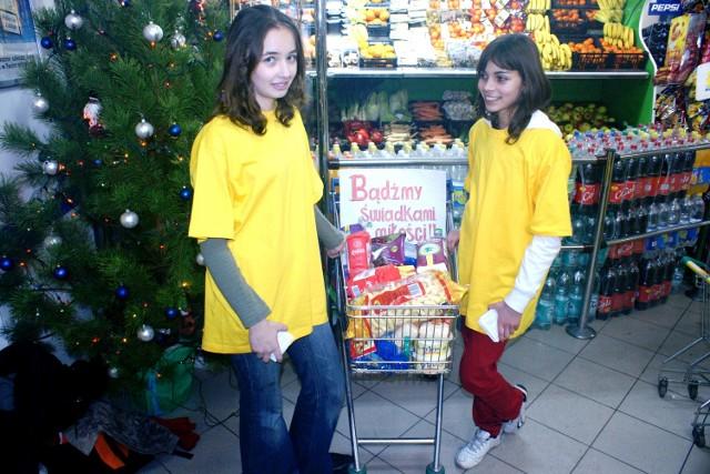 Paulina Wojnicka i Amanda Florek chętnie pomagają potrzebującym