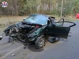 Tragiczny wypadek w powiecie bialskim. Samochód roztrzaskał się na części, kierowca zginął na miejscu