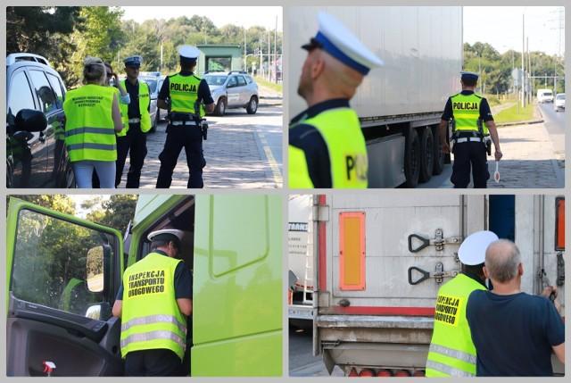 """Akcja """"Nielegalne odpady 2021"""" we Włocławku na drodze krajowej 62."""