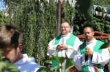 Wizyta grupy pielgrzymów w ramach Światowych Dni Młodzieży 2016. Msza św. w plenerze – Ogrody Parafialne
