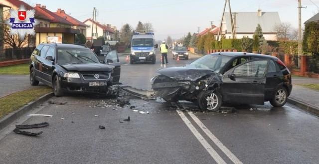 Wypadek w Chmielku: trzy osoby trafiły do szpitala