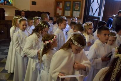 Pierwsza Komunia Święta w kościele farnym we Wrześni