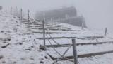 Zimno! Coraz zimniej! Na Śnieżce sypie śnieg! [WIDEO]