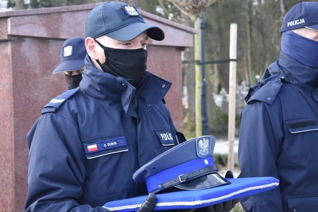 Policjanci pożegnali aspiranta Patryka Niezbeckiego