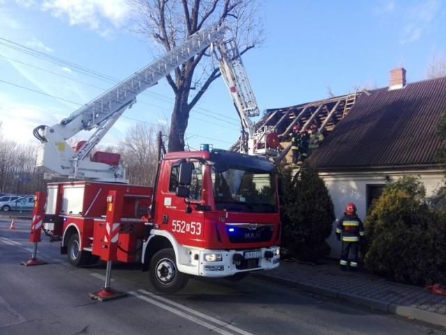 Zerwany dach w Andrychowie