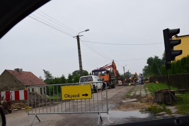 Ulica Ciechocińska w remoncie.