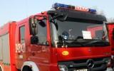 Pożar auta zablokował drogę krajową nr 28 między Limanową i Nowym Sączem